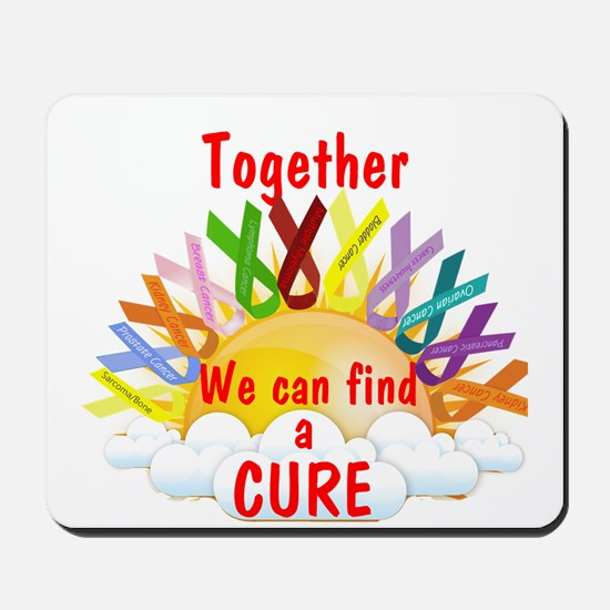 Together we can find a cure Mousepad