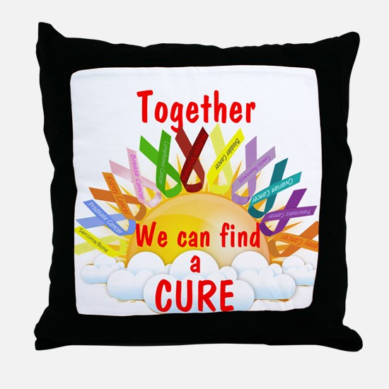 Together we can find a cure Throw Pillow