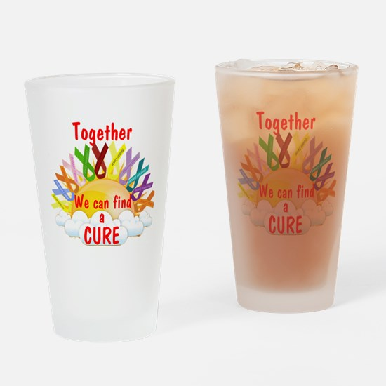 Together we can find a cure Drinking Glass