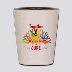 Together we can find a cure Shot Glass