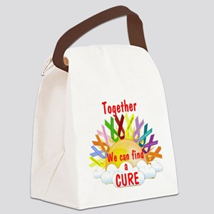 Together we can find a cure Canvas Lunch Bag