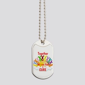 Together we can find a cure Dog Tags