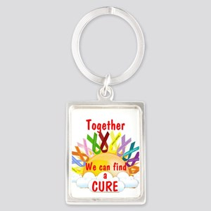 Together we can find a cure Keychains