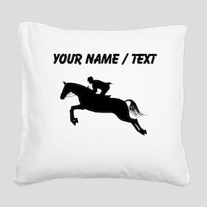 Custom Equestrian Horse Silhouette Square Canvas P