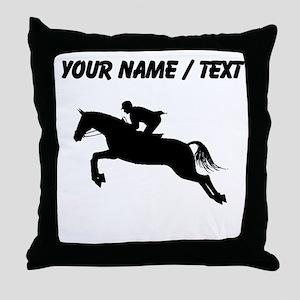 Custom Equestrian Horse Silhouette Throw Pillow