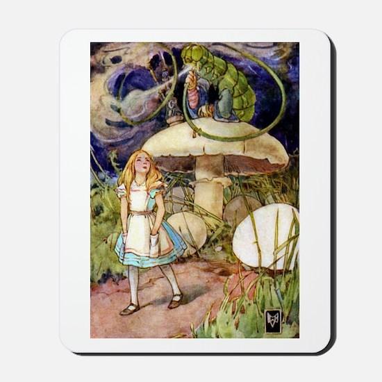 ALICE & THE CATERPILLAR Mousepad