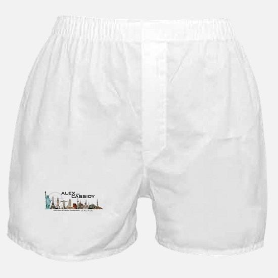 Alex and Cassidy Landmarks Boxer Shorts