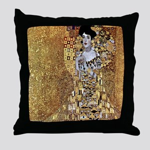 Adele Gustav Klimt Throw Pillow