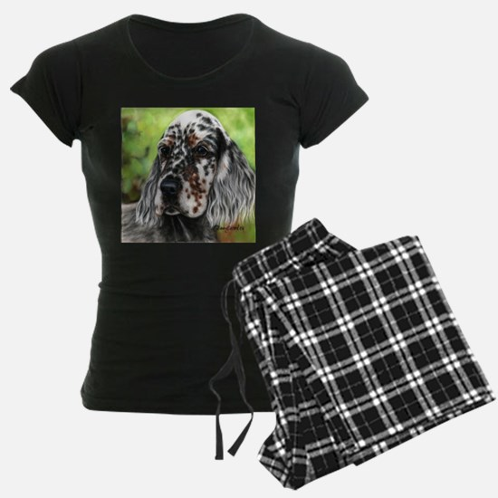 English Setter pup by Dawn Secord Pajamas