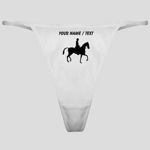 Custom Equestrian Horse Silhouette Classic Thong