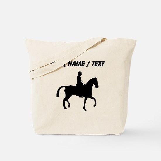 Custom Equestrian Horse Silhouette Tote Bag