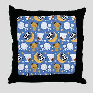 Nursery Rhyme Characters Throw Pillow