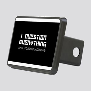 question everything worshi Rectangular Hitch Cover