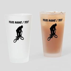 Custom BMX Biker Silhouette Drinking Glass