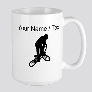 Custom BMX Biker Silhouette Mugs