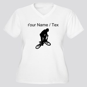 Custom BMX Biker Silhouette Plus Size T-Shirt