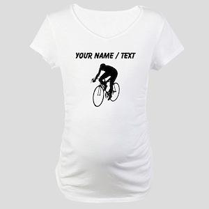 Custom Cyclist Silhouette Maternity T-Shirt