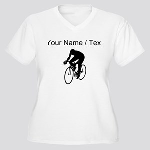 Custom Cyclist Silhouette Plus Size T-Shirt