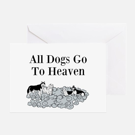 All Dogs Go to Heaven Greeting Cards