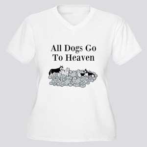 All Dogs Go to Heaven Plus Size T-Shirt