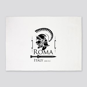 Roman Centurion with gladio 5'x7'Area Rug