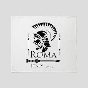 Roman Centurion with gladio Throw Blanket