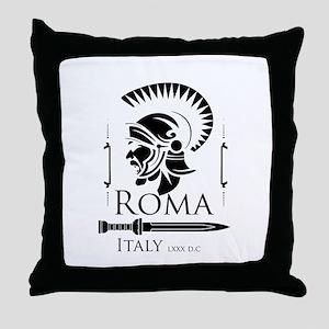 Roman Centurion with gladio Throw Pillow