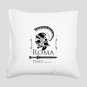 Roman Centurion with gladio Square Canvas Pillow