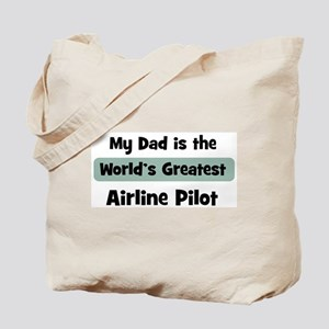 Worlds Greatest Airline Pilot Tote Bag
