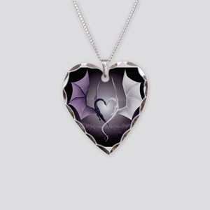 dragon love Necklace Heart Charm