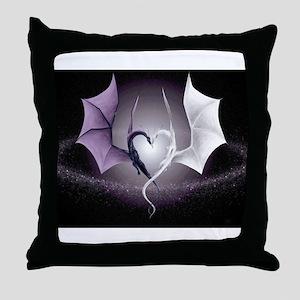 dragon love Throw Pillow