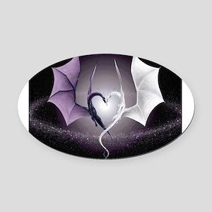 dragon love Oval Car Magnet