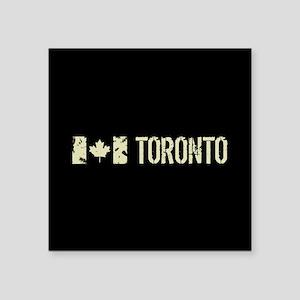 """Canadian Flag: Toronto Square Sticker 3"""" x 3"""""""