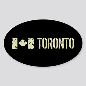 Canadian Flag: Toronto Sticker (Oval)