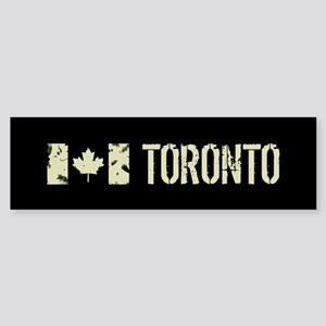 Canadian Flag: Toronto Sticker (Bumper)