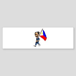 Philippines Girl Bumper Sticker