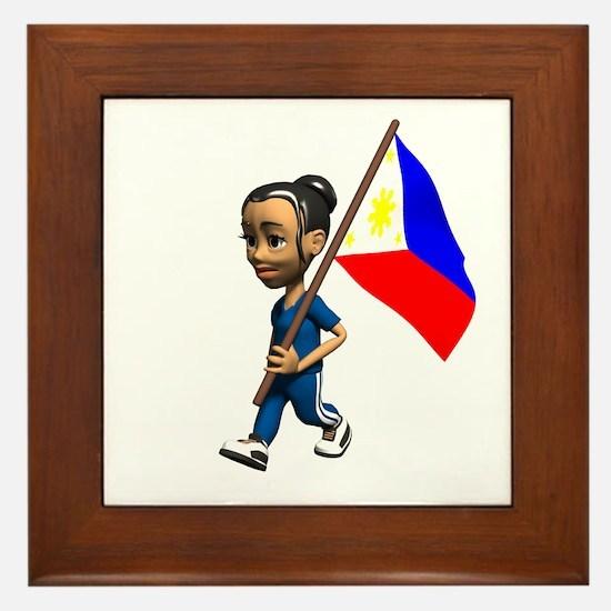 Philippines Girl Framed Tile