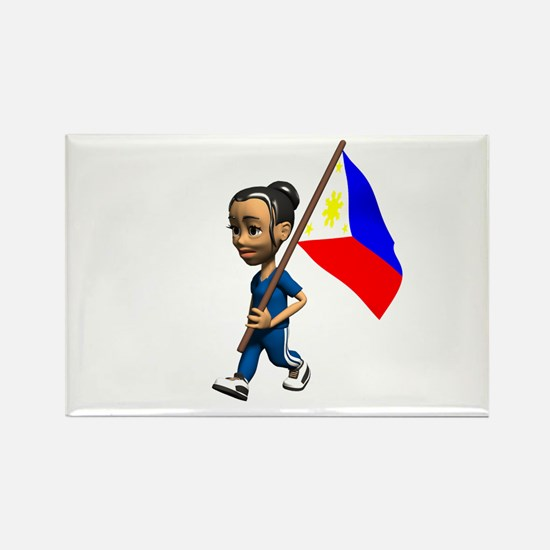 Philippines Girl Rectangle Magnet