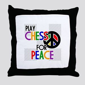 Play Chess For Peace Throw Pillow