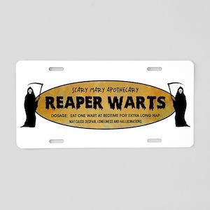 REAPER WARTS Aluminum License Plate