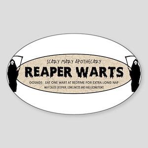 REAPER WARTS Sticker (Oval)