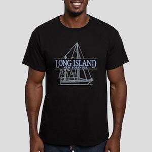 Long Island - Men's Fitted T-Shirt (dark)