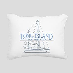 Long Island - Rectangular Canvas Pillow