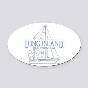 Long Island - Oval Car Magnet