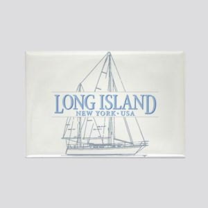 Long Island - Rectangle Magnet