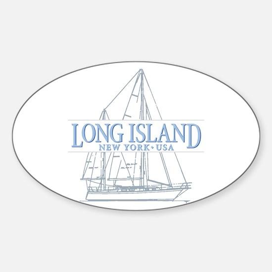 Long Island - Sticker (Oval)