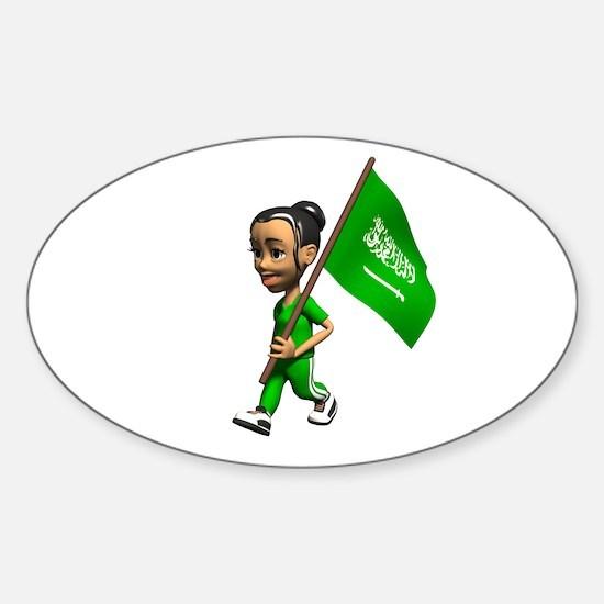 Saudi Arabia Girl Oval Decal