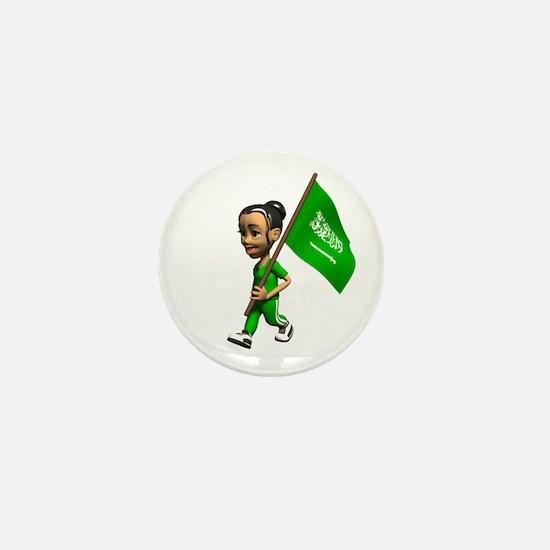 Saudi Arabia Girl Mini Button