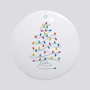 Christmas Lights Ornament (Round)