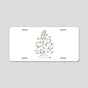 Christmas Lights Aluminum License Plate